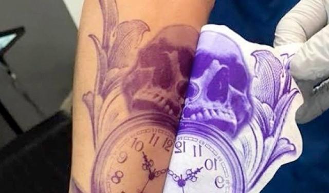 Transfer tatuaje paso a paso